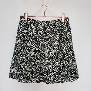 Banana Republic Black White Spotted Circle Skirt 6
